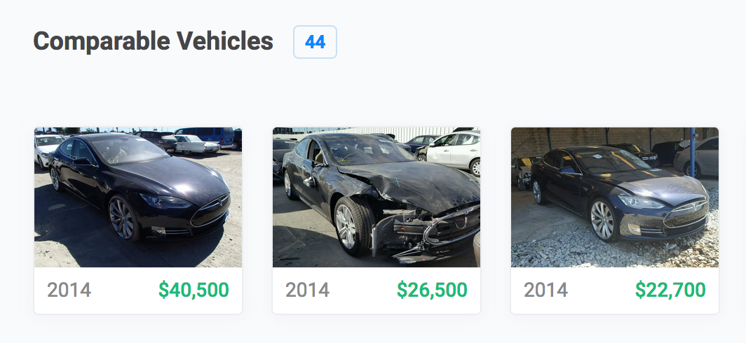 Comparable Vehicles