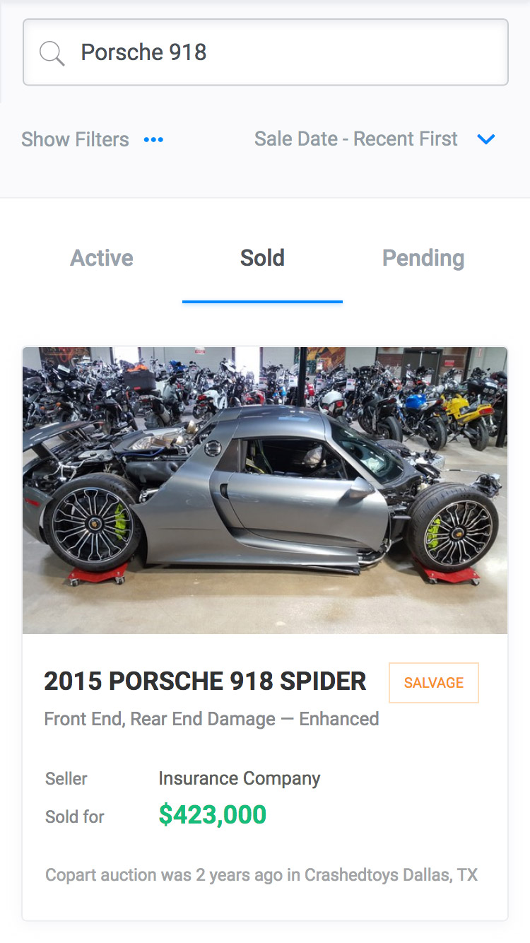 AutoAuctions.io - Mobile App Screenshot